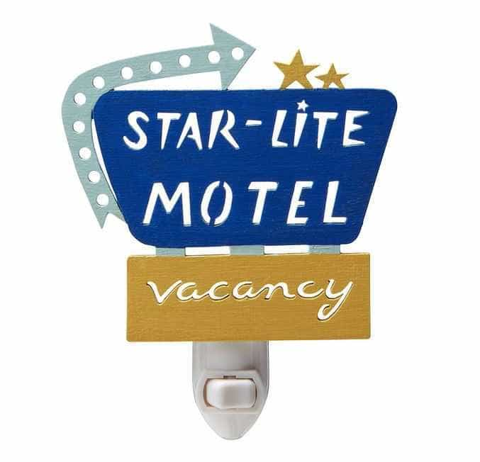 Retro Starlight Motel Nightlight | The Mindful Shopper