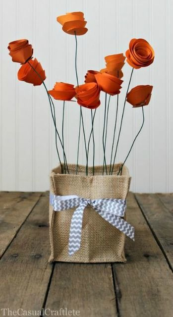 Pretty Paper Flower Centerpiece from The Casual Craftlete