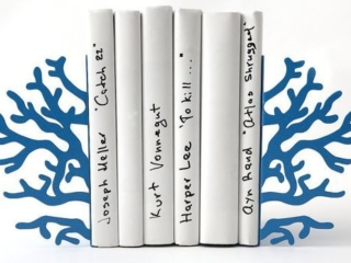 Handmade Blue Coral Bookends