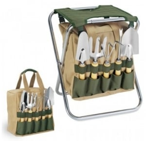 Garden Tool Set with Folding Chair