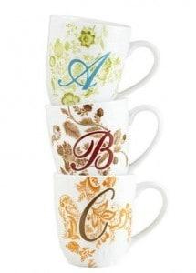 Ava Monogram Mugs