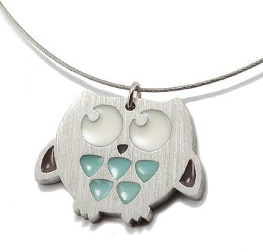 Handmade Blue Owl Necklace