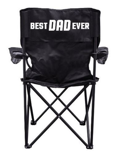 """Best Dad Ever"" Camping Chair with Carry Bag"