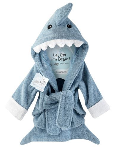 Blue Shark Baby Bathrobe