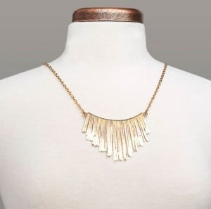 Bronze Fringe Necklace