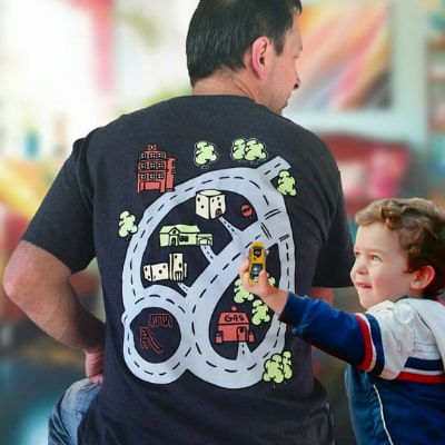 Dad's Roadmap T-Shirt Give Dad A Free Back Massage