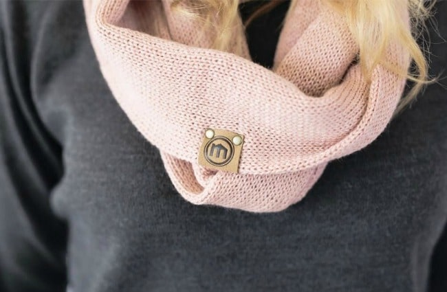 Dusty Pink Infinity Scarf