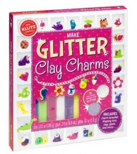 Glitter Clay Charms Craft Kit