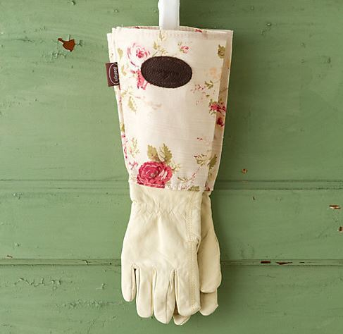 Leather & Linen Garden Gloves