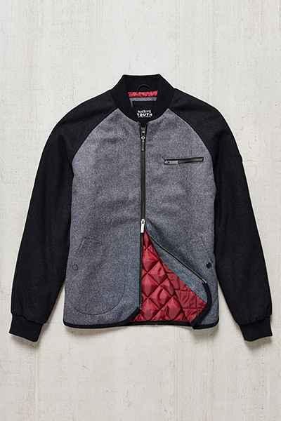 Native Youth Raglan Bomber Jacket
