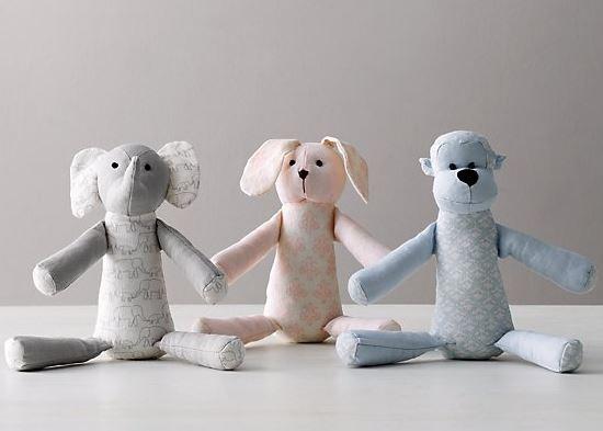 Organic Linen Animals