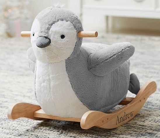 Penguin Plush Rocker