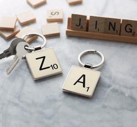 Scrabble King Keyring
