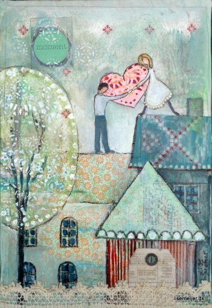 Sharing A Moment Art Print by Artist Lise Meijer
