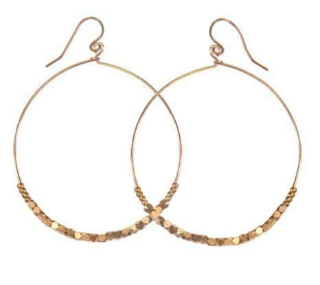 Shimmer Hoop Earrings