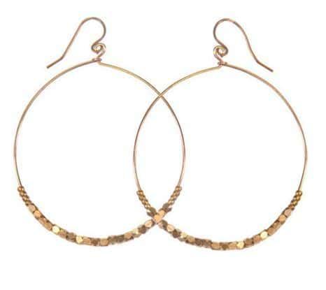 Shimmer Hoop Earrings