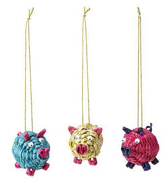 Uncommon Goods Pig Ornaments