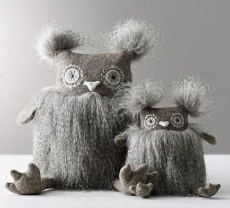 Wooly Plush Owls