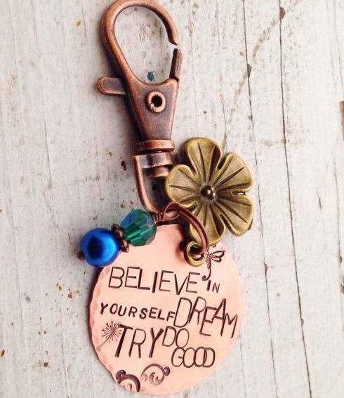 Believe In Yourself Keychain from Faeriekissage Studio