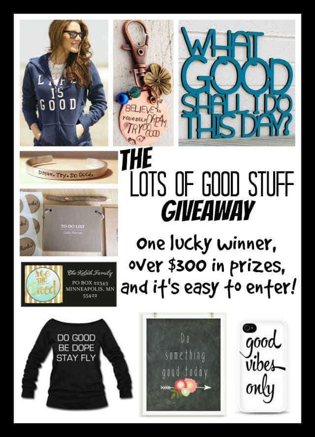 The Lots of Good Stuff Giveaway | The Mindful Shopper