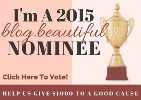 The 2015 Blogelina blog.beautiful Award | Win Money for Charity