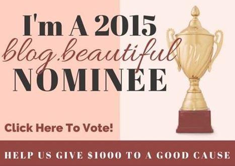 The 2015 Blogelina blog.beautiful Award | Win Money for Charity