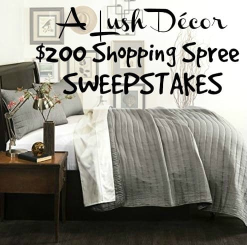 Lush Decor Shopping Spree Sweepstakes | The Mindful Shopper