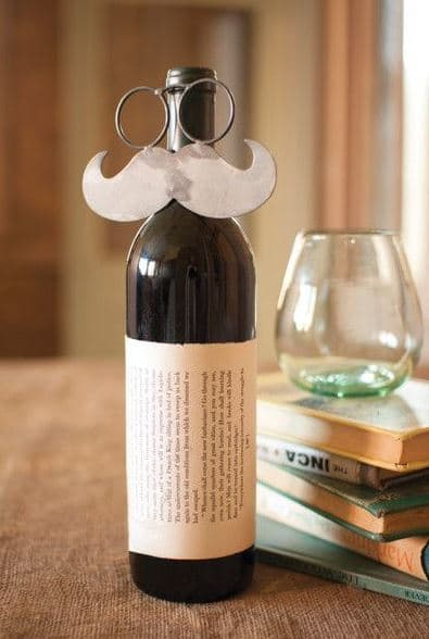Metal Mustache Wine Bottle Topper | Unique Gifts for Wine Lovers