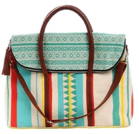 Turquoise Matea Weekender Bag from Mercado Global