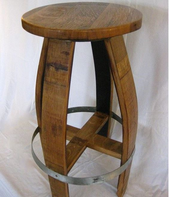 Wine Barrel Barstools by The Valley Barrel