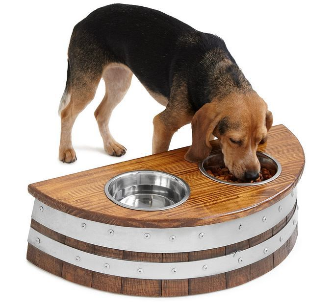 Wine Barrel Dog Feeder | Unique Gifts for Wine Lovers