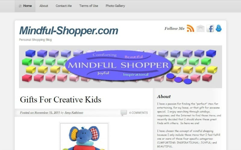 The Mindful Shopper November 2011