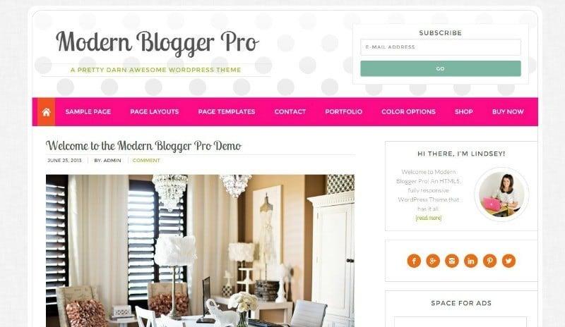 Modern Blogger Pro Theme from Pretty Darn Cute Design