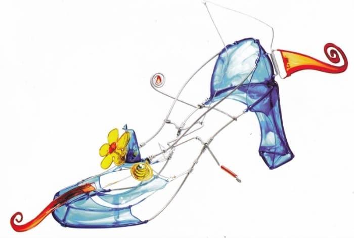 Automata V Fantasy Shoe by Artist Douglas Wilson