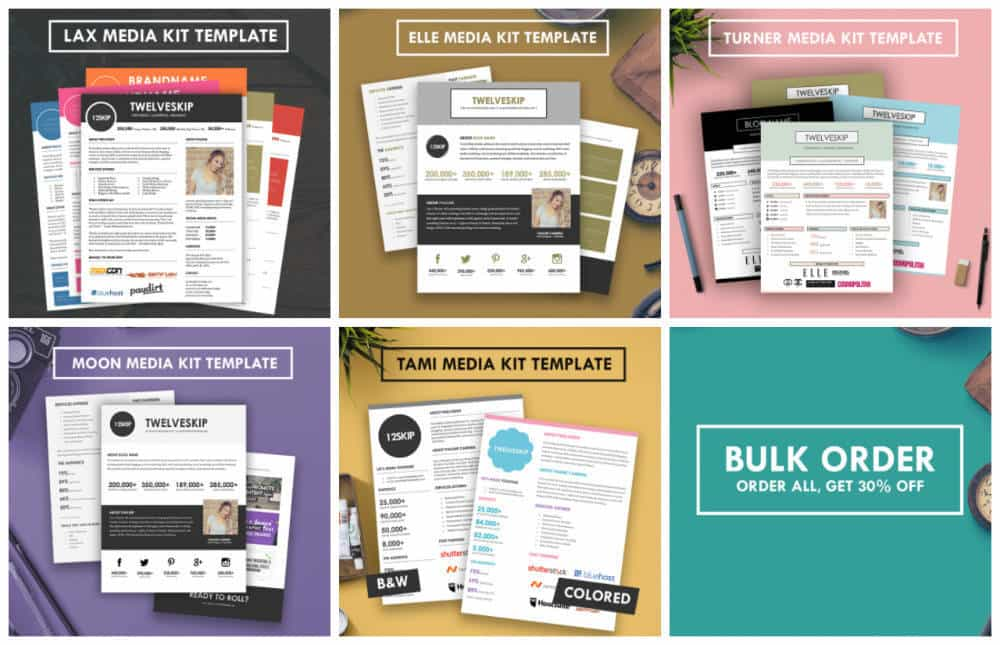 Easily Create an Amazing Blog Medi Kit with HIP Media Kit Templates