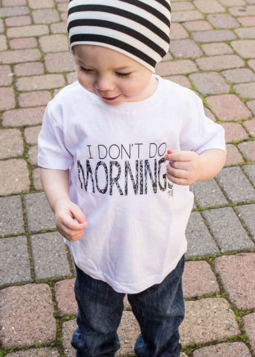 I Don't Do Mornings Tee | Clothing For Kids That Gives Back To Charity