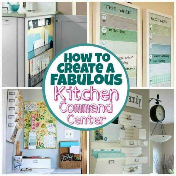 How To Create A Fabulous Kitchen Command Center | The Mindful Shopper