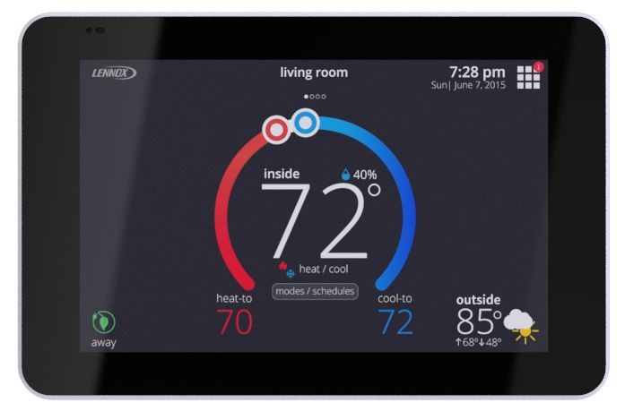 The iComfort S30 HVAC Smart Thermostat from Lennox