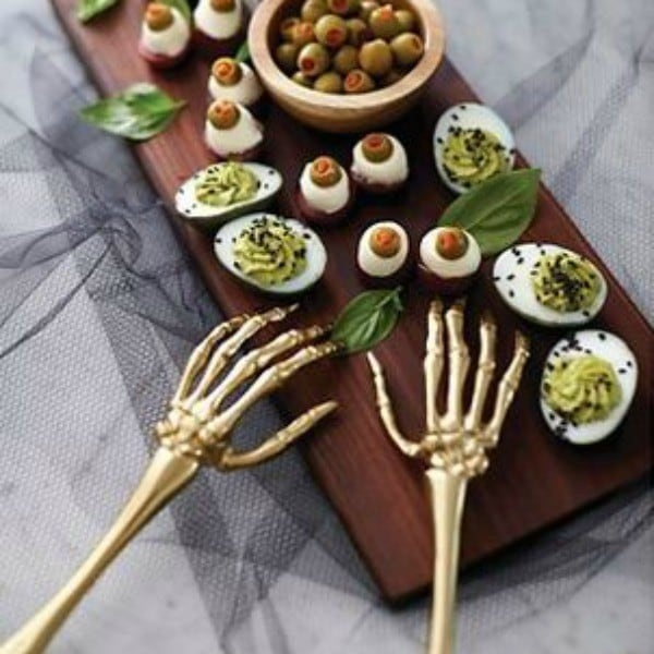 Skeleton Serving Hands | Must-Haves For Hosting A Spooktacular Halloween Party
