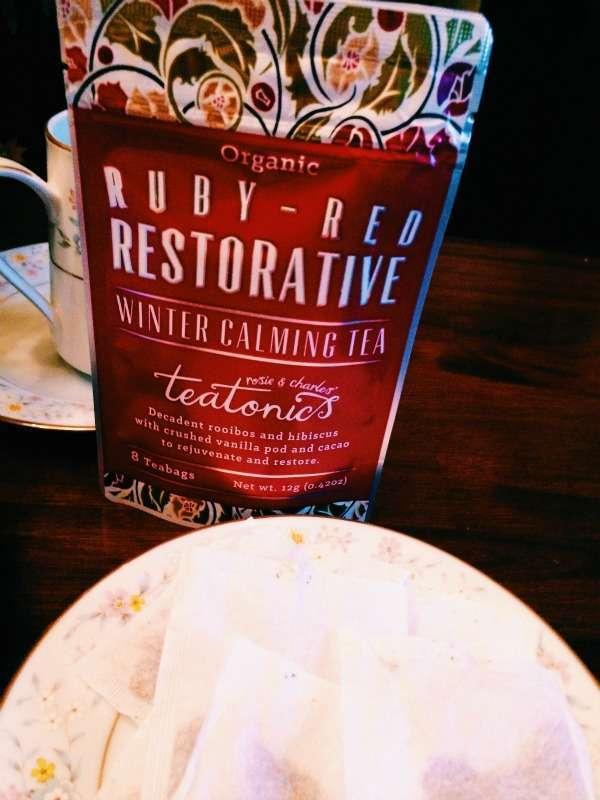 Teatonics Ruby Red Restorative Winter Calming Tea from The UK