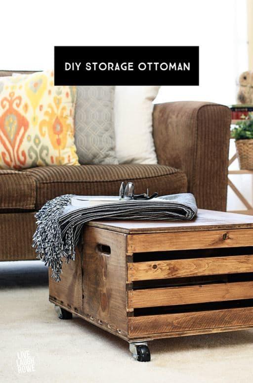 DIY Storage Ottoman from Live Laugh Rowe   Inspiring Home Decor Ideas