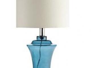 Blue Sea Glass Lamp