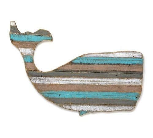 Distressed Wood Plank Whale