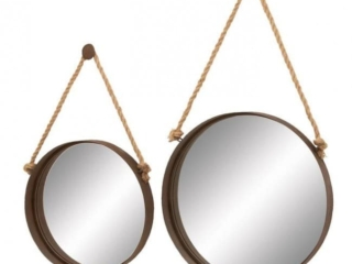 Metal and Mirror, Set of 2 ($103)