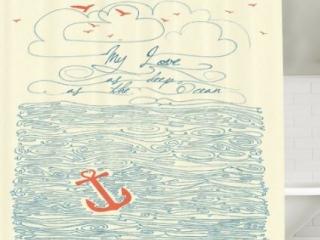 My Love As Deep As The Ocean Shower Curtain