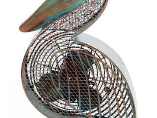 Pelican-Shaped Decorative Fan
