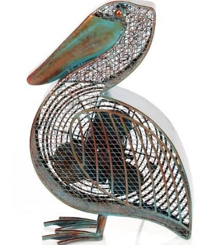 Pelican-Shaped Decorative Fan