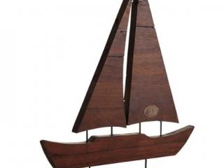 Reclaimed Ship Wood Sail Boat