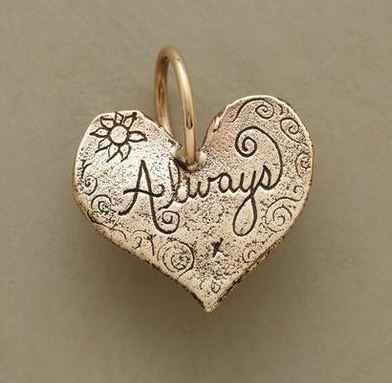 Gold Always Heart Charm