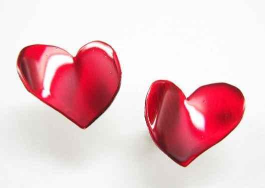 Handmade Heart Shaped Earrings